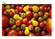 Tomatoes Background Carry-all Pouch by Carlos Caetano