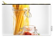 Tomatoes Sauce And  Spaghetti Pasta  Carry-all Pouch by Amanda Elwell
