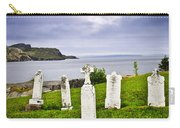 Tombstones Near Atlantic Coast In Newfoundland Carry-all Pouch by Elena Elisseeva