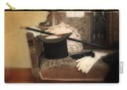 Top Hat And Cane On Sofa Carry-all Pouch