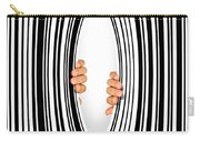 Torn Bar Code Carry-all Pouch by Carlos Caetano