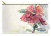 Touch Of Summer Hollyhocks Watercolor Carry-all Pouch