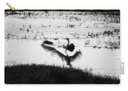 Touchdown-black And White Carry-all Pouch