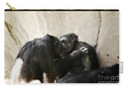 Touching Moment Gorillas Kissing Carry-all Pouch