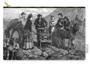 Tourists At Vesuvius, 1872 Carry-all Pouch