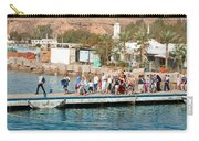 Tourists Waiting To Climb Onto Dive And Snorkeling Boats At Sharm El Sheikh Carry-all Pouch