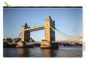 Tower Bridge And Helicopter Carry-all Pouch