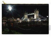 Tower Bridge And Riverside Night View  Carry-all Pouch