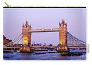 Tower Bridge In London At Dusk Carry-all Pouch