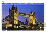 Tower Bridge In London At Night Carry-all Pouch
