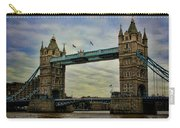 Tower Bridge London Carry-all Pouch by Heather Applegate