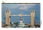 Tower Bridge With Hms Belfast Carry-all Pouch