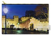 Tower Of London Walls At Night Carry-all Pouch