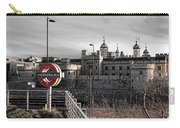Tower Of London With Tube Sign Carry-all Pouch