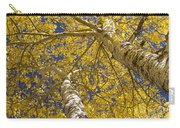 Towering Autumn Aspens With Deep Blue Sky Carry-all Pouch