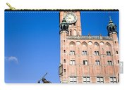 Town Hall And Neptune Fountain In Gdansk Carry-all Pouch