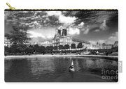 Toy Boating In A Parisian Park Bw Carry-all Pouch