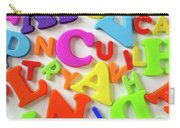 Toy Letters Carry-all Pouch by Carlos Caetano