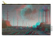 Tracking The Storm - Red-cyan Filtered 3d Glasses Required Carry-all Pouch