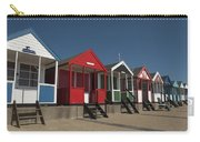 Traditional Beach Huts On The Seafront Carry-all Pouch