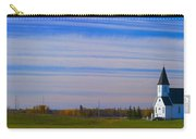 Traditional Prairie Steeple Church In Carry-all Pouch