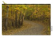 Trail Scene Autumn Abstract 3 Carry-all Pouch