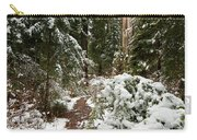 Trail Through Snow-decked Redwood Grove Carry-all Pouch