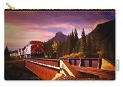 Train Going Over A Bridge Banff Carry-all Pouch