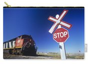 Train Passing Railway Crossing Carry-all Pouch
