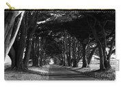 Tree Canopy Promenade Road Drive . 7d9977 . Black And White Carry-all Pouch