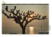 Tree In A Foggy Sunset Carry-all Pouch