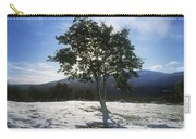 Tree On A Snow Covered Landscape Carry-all Pouch