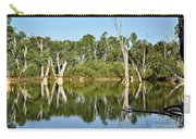 Tree Stumps In The River Carry-all Pouch by Kaye Menner
