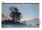 Tree With Fog On Field And Carry-all Pouch