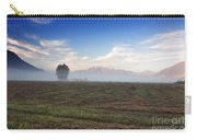 Tree With Fog On The Field Carry-all Pouch