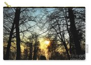 Trees And Sun In A Foggy Day Carry-all Pouch