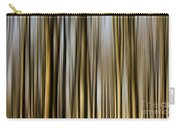 Trees In A Forest Blurred Carry-all Pouch