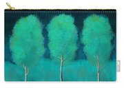 Trees In Triplicate Moonlit Winter Carry-all Pouch by Robin Lewis