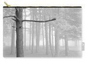 Trees On A Foggy  Morning Carry-all Pouch