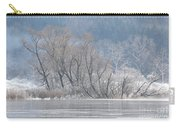Trees On A Frozen Lake Carry-all Pouch