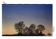 Trees On A Hill In Sunset Carry-all Pouch