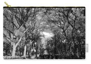 Trees On The Mall In Central Park In Black And White Carry-all Pouch
