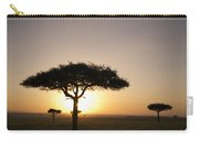 Trees On The Savannah With The Sun Carry-all Pouch