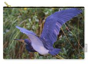 Tricolored Heron In Flight Carry-all Pouch
