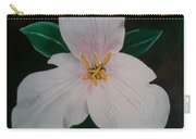 Trillium Captured In Acrylic Carry-all Pouch