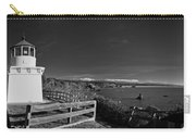 Trinidad Memorial Lighthouse In Black And White Carry-all Pouch