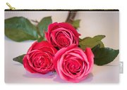 Trio Of Pink Roses Carry-all Pouch