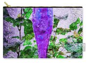 Triptych Cobalt Blue Purple And Magenta Bottles Triptych Vertical Carry-all Pouch