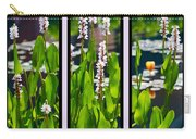 Triptych Of Water Hyacinth Carry-all Pouch