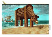 Trojan Cow Carry-all Pouch by Russell Kightley